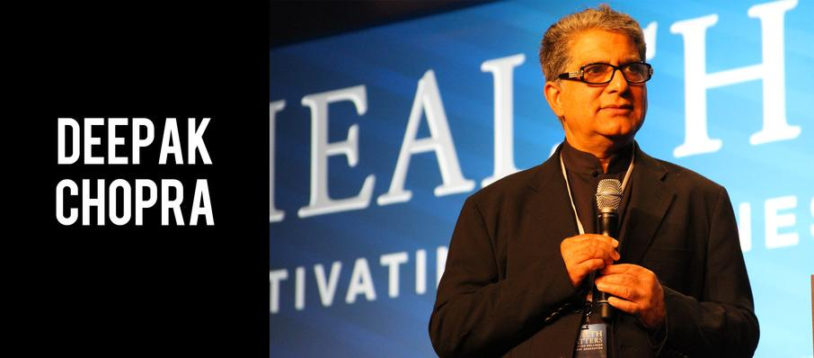 Deepak Chopra at Temple Theatre